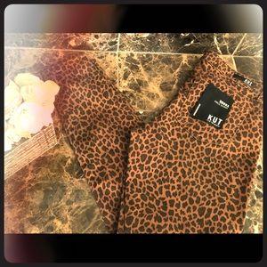 Kut Ankle Skinny Cheetah Jeans